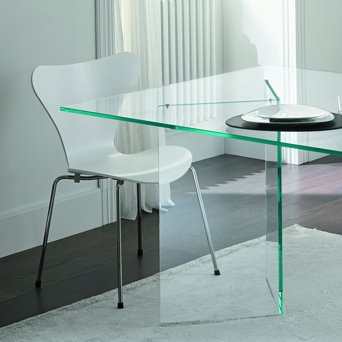 glass kitchen tables hardware cabinets tonelli bacco dining table klarity furniture