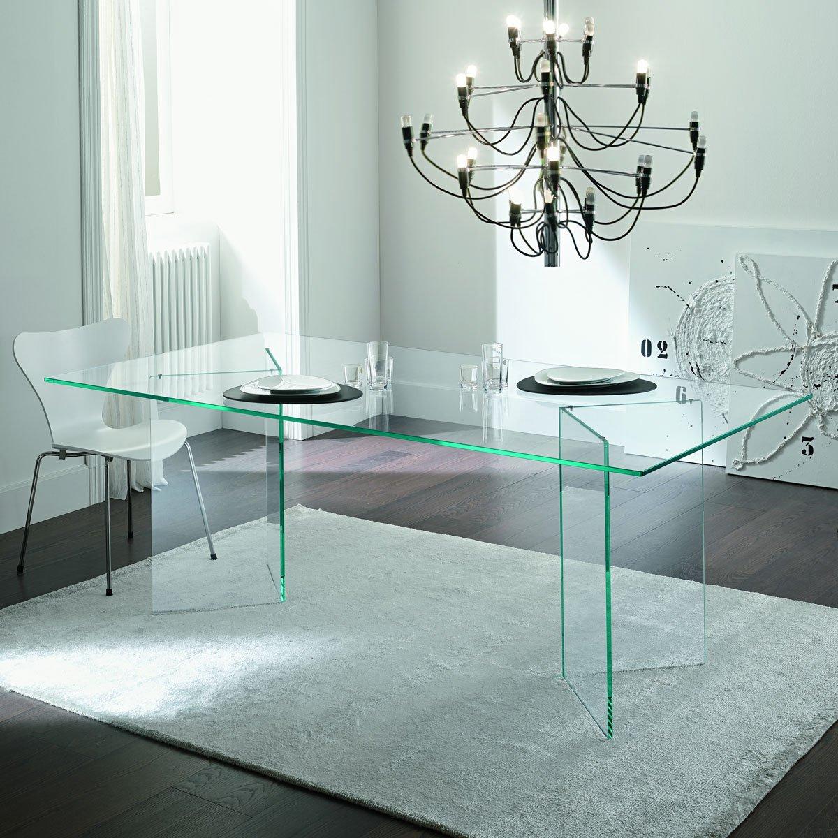 Tonelli Bacco Glass Dining Table  Klarity Glass Furniture