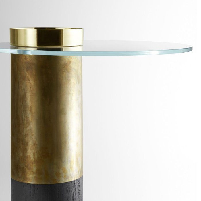 Haumea Glass and Metal Coffee Table by Gallotti & Radice