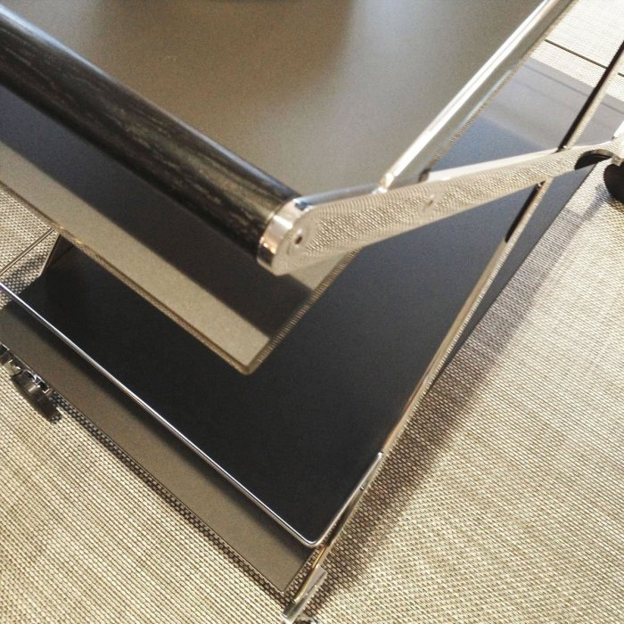 Mister Glass and Metal Trolley by Gallotti & Radice