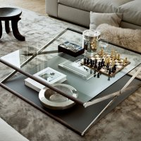 Nox Glass Wood and Metal Coffee Table by Gallotti & Radic ...