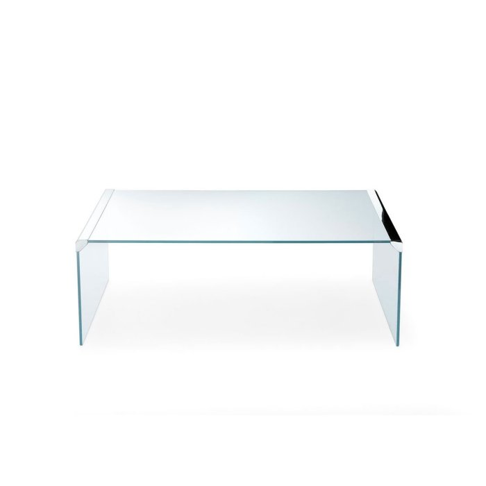 T33 Glass and Metal Coffee table by Gallotti & Radice