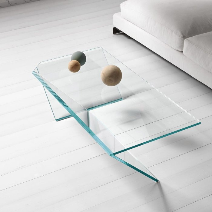 ti glass coffee table by tonelli