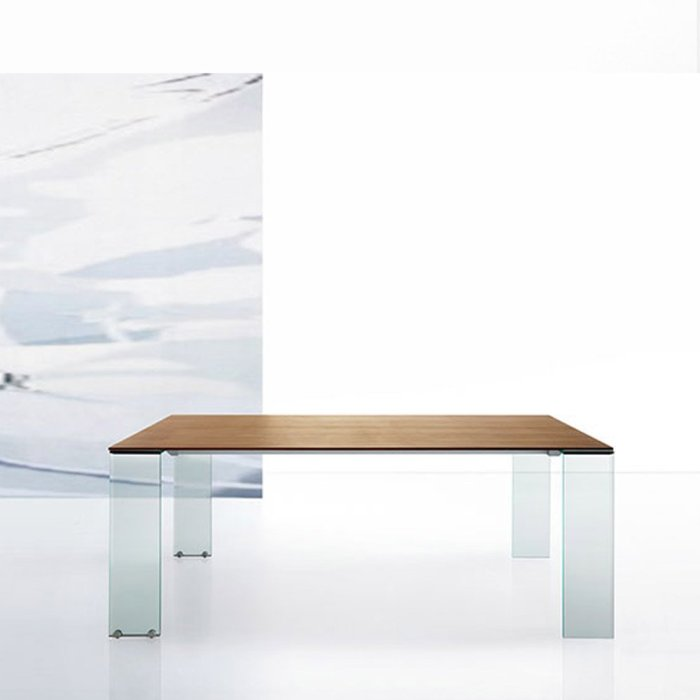 aria glass dining table