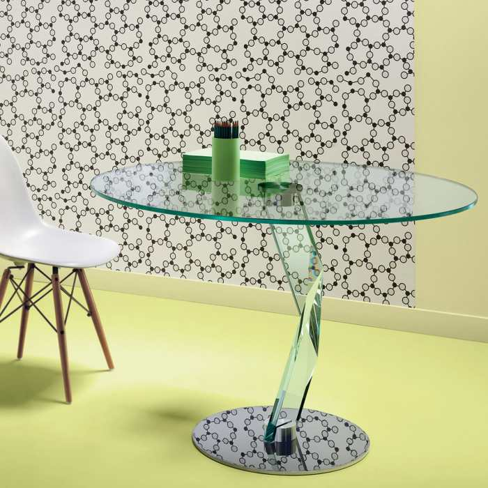 bakkarat glass table by tonelli