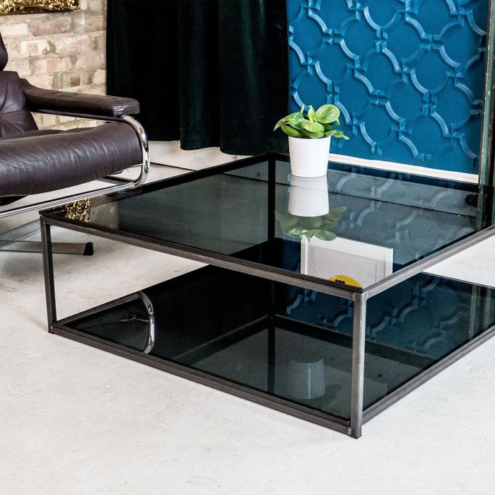 metal and glass coffee tables klarity