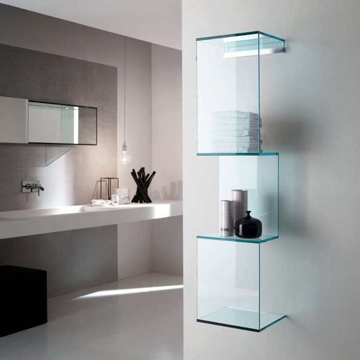 cling glass shelving unit by tonelli