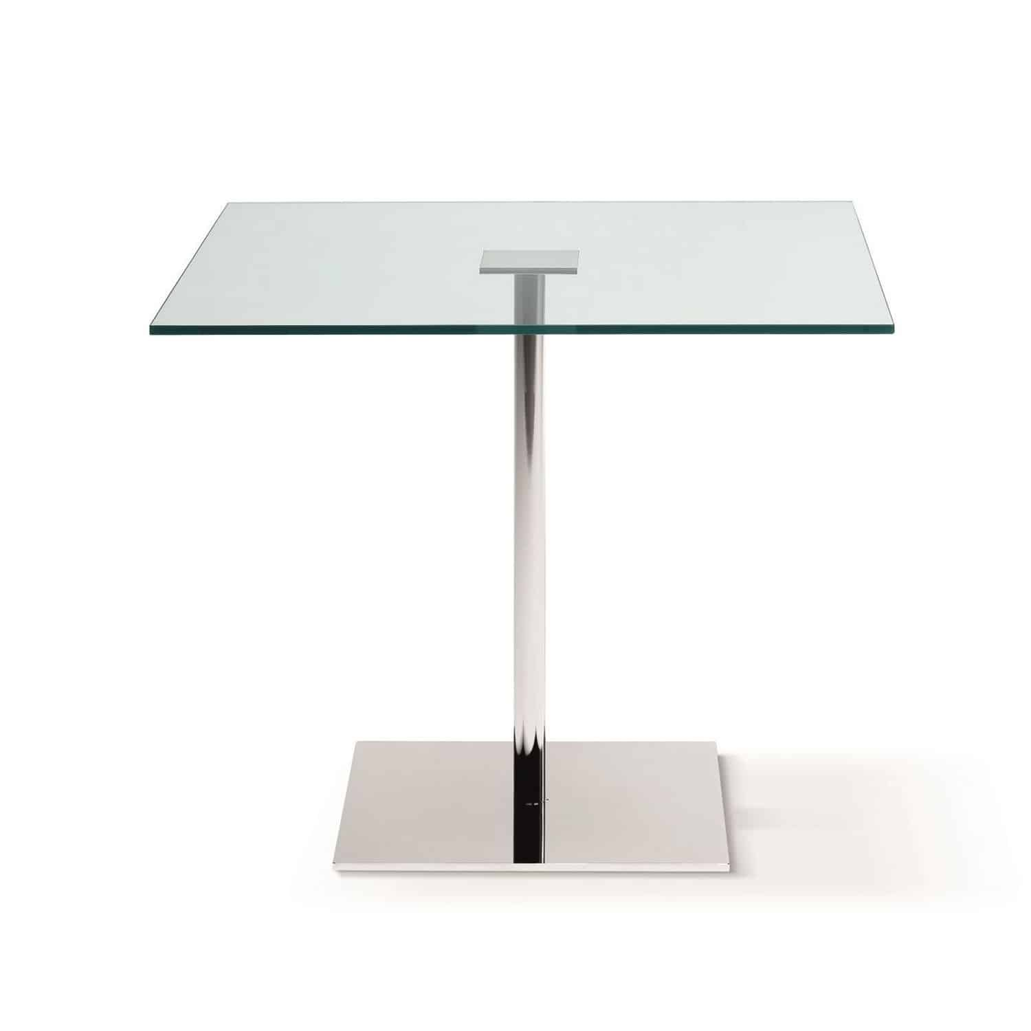 klarity  glass furniture shop  glass dining tables  metal and glassdining tables  farniente square glass and metal dining table by tonelli. farniente square glass and metal dining table by tonelli  klarity