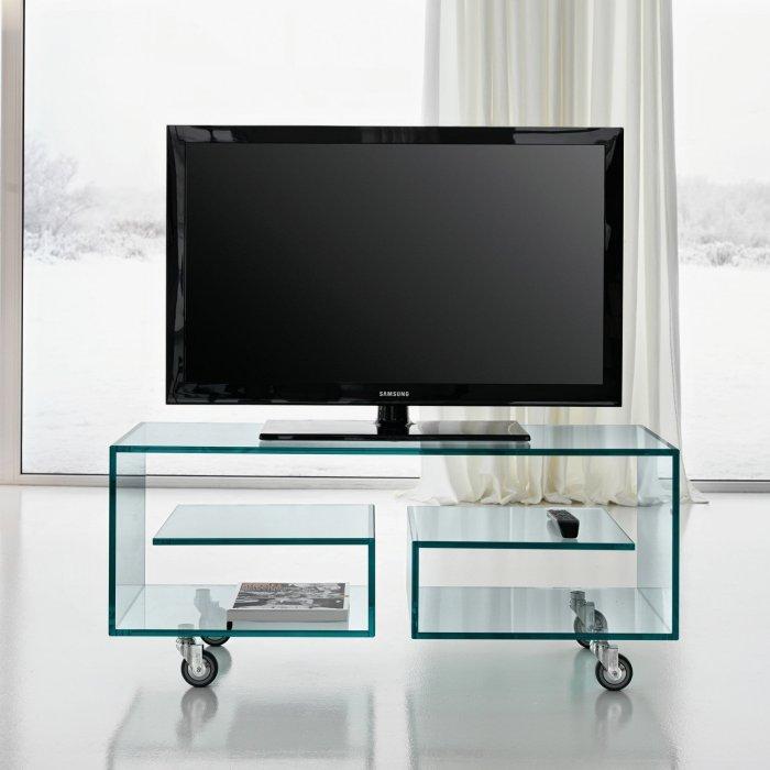 flo glass tv stand