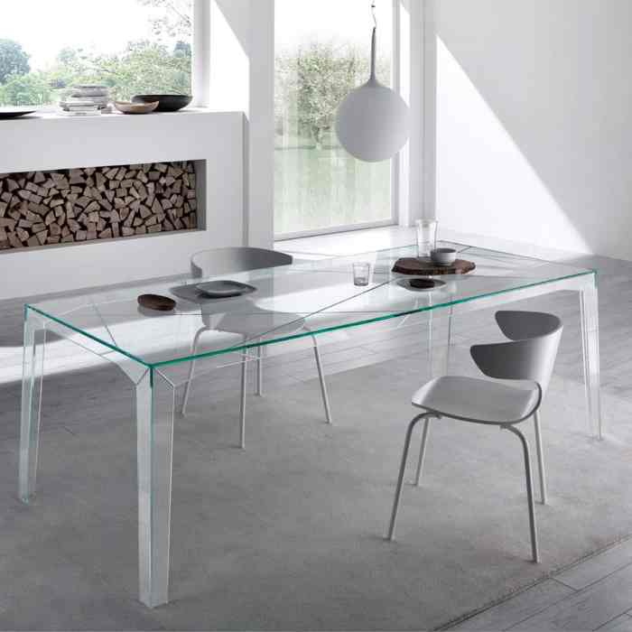 fragment glass table by tonelli