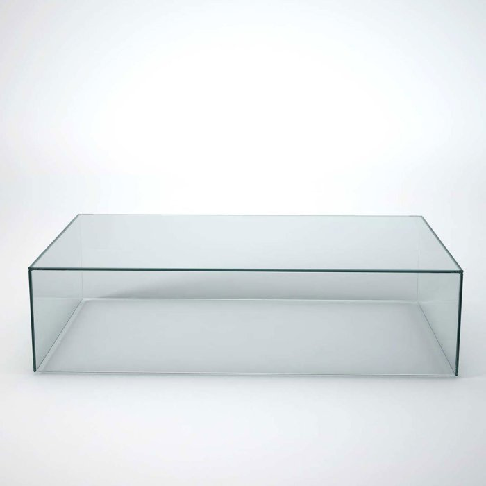 glass coffee table - cubic