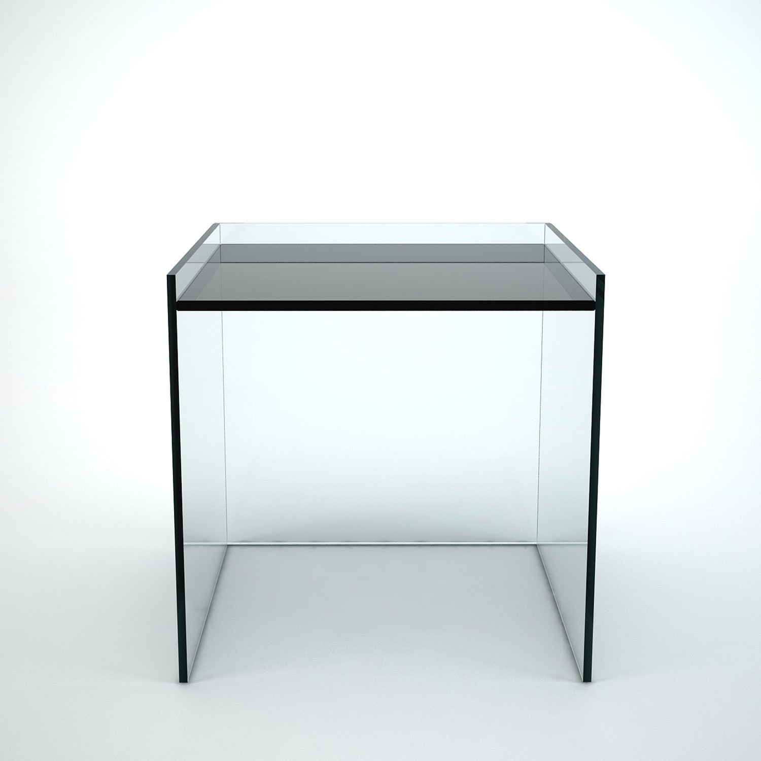 glass side table. Glass Side Table - Recess