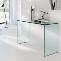 Gulliver Glass Console Table by Tonelli - Klarity - Glass ...