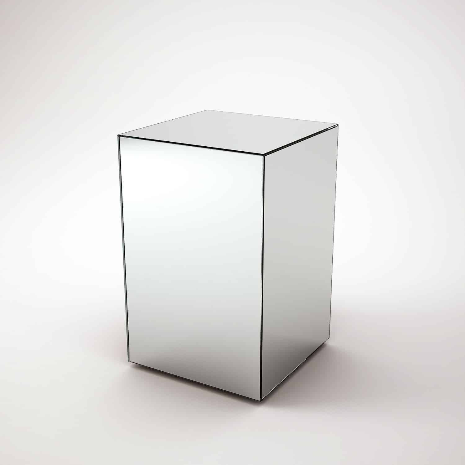 drawer uk contrasting table with single ideas mirror round tables faceted west side mirrored in ikea elm glass