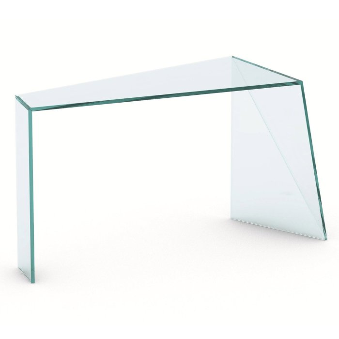 Penrose glass console table by tonelli