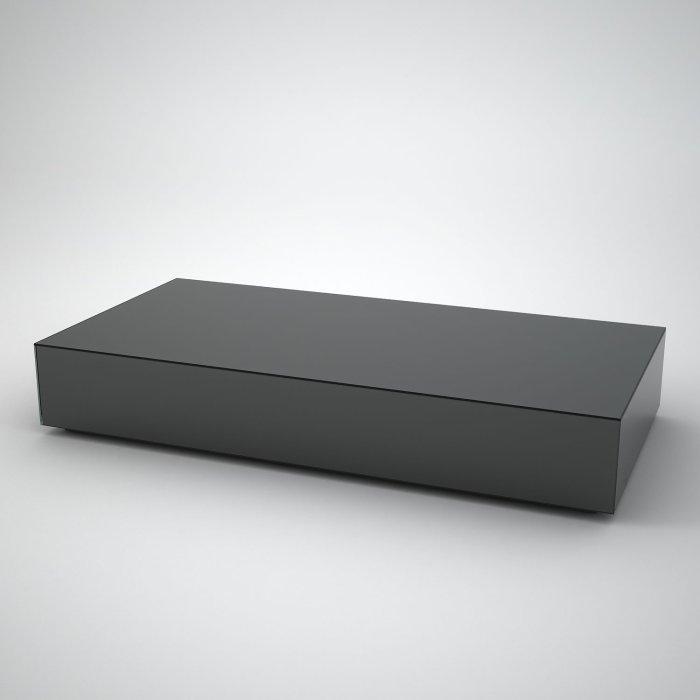 smoked mirror rectangular coffee table
