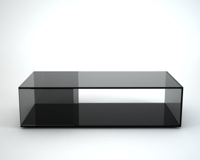 Tifino black glass coffee table