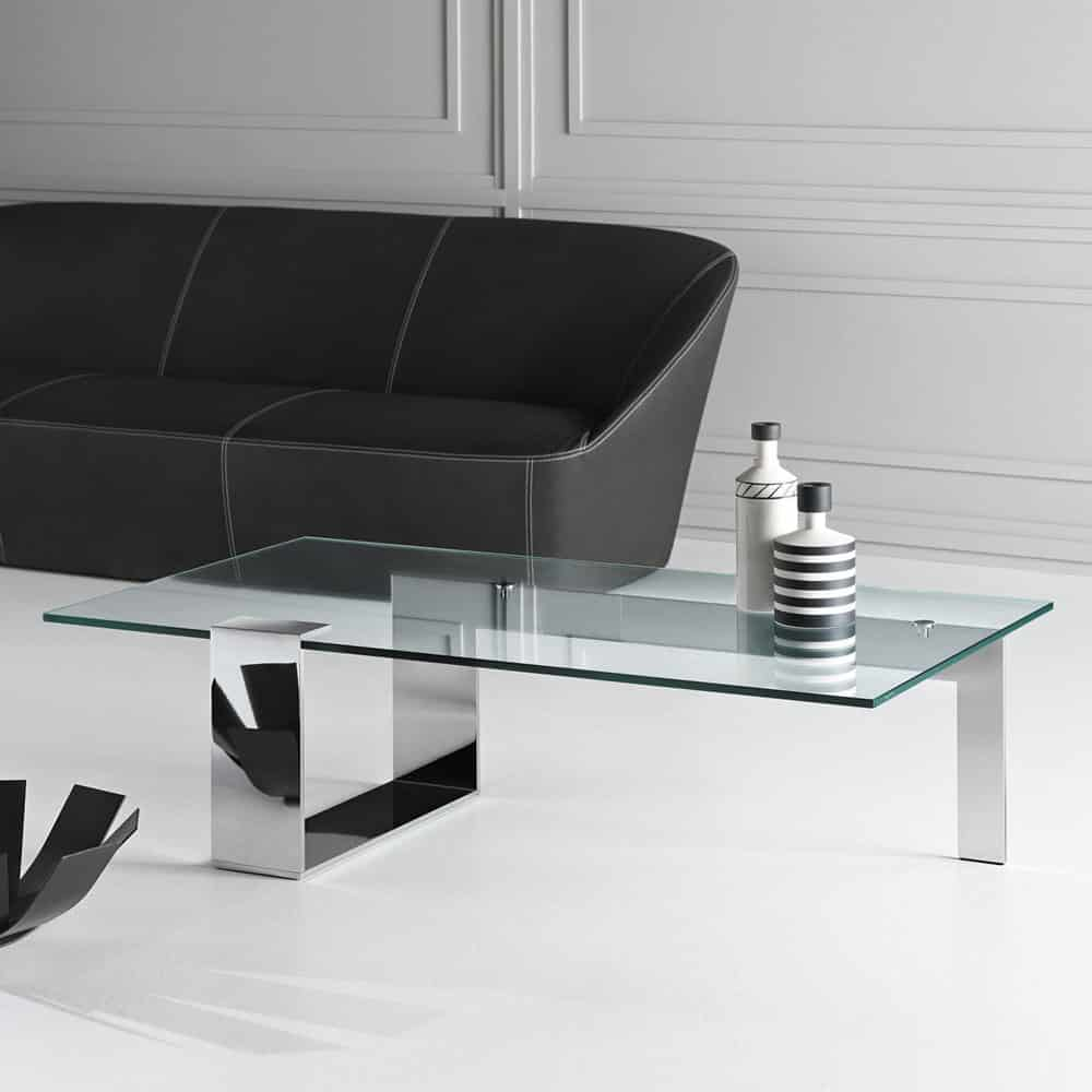 Silver Glass Coffee Table Uk: Plinsky Glass Coffee Table By Tonelli