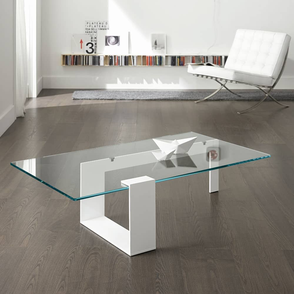 Plinsky Glass Coffee Table by Tonelli