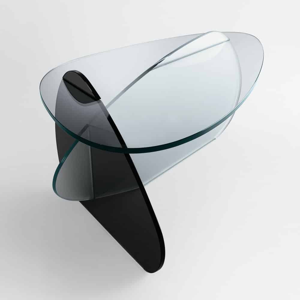 Kat Glass Coffee Table by Tonelli