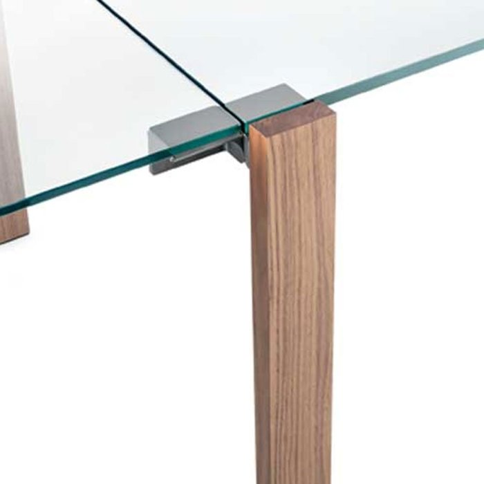 livingstone glass and wood dining table tonelli