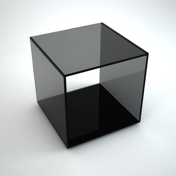 Quebec - black glass side table
