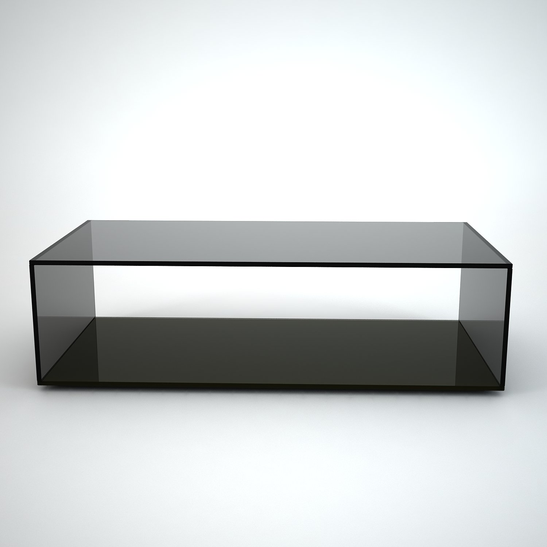 Rectangular Glass Coffee Tables Uk: Quebec Rectangular Grey Tint Glass Coffee Table By Klarity