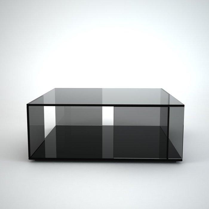 tifinno-square black glass coffee table