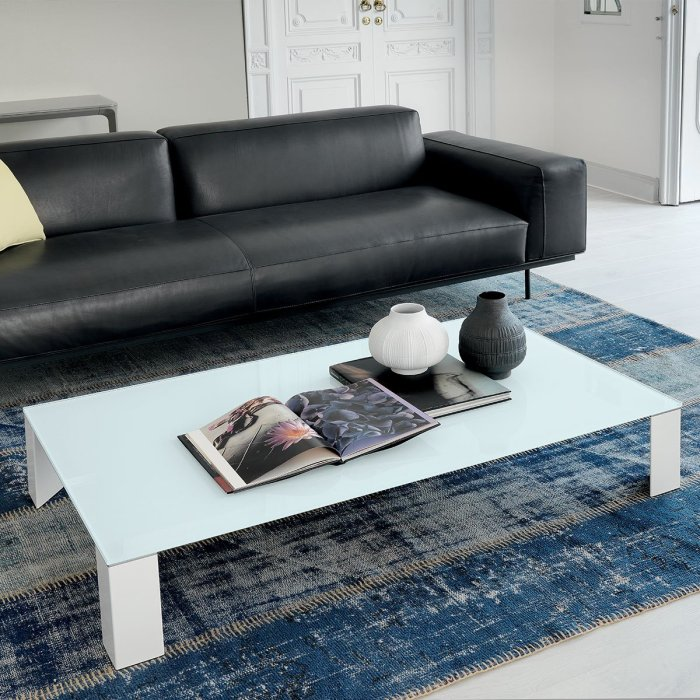Jean Glass & Metal Coffee Table by Sovet Italia