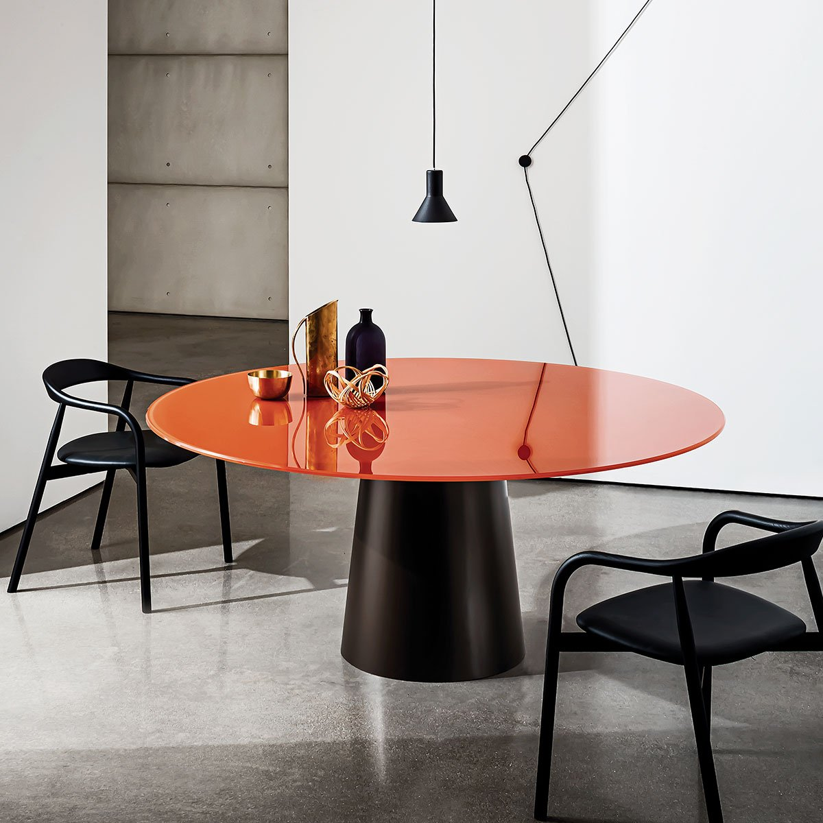 Glass Dining Furniture: Round Glass Dining Table