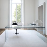 Air Glass Desk L By Gallotti & Radice