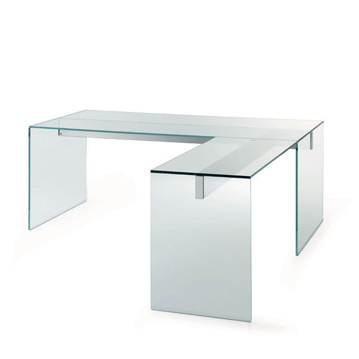 Air Glass Desk L By Gallotti  Radice  Klarity  Glass
