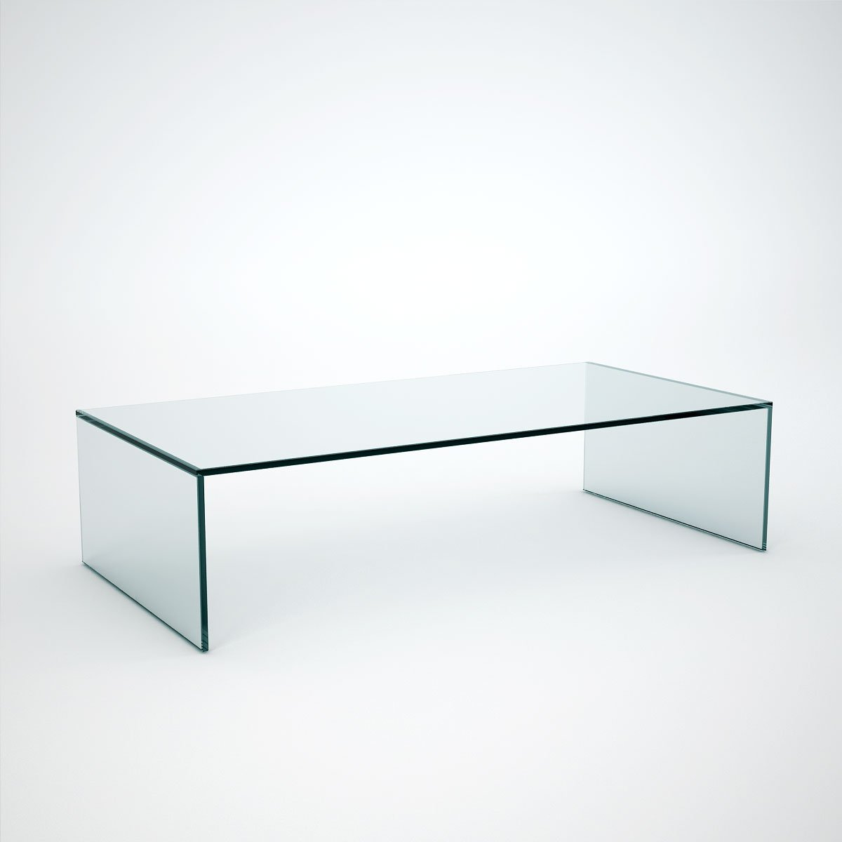 judd rectangle glass coffee table instock
