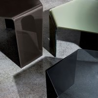 3 Feet Curved Glass Coffee Table - Klarity - Glass Furniture