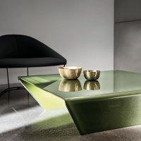 Rubino Curved Glass Coffee Table - Klarity - Glass Furniture