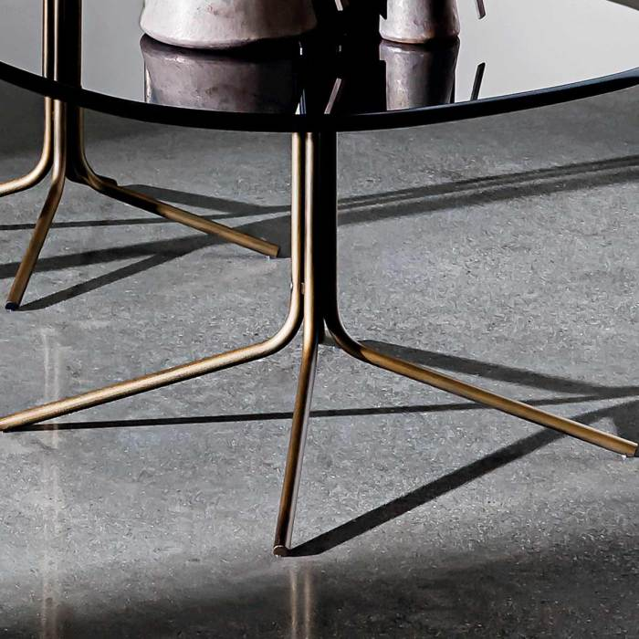brass and glass coffee table