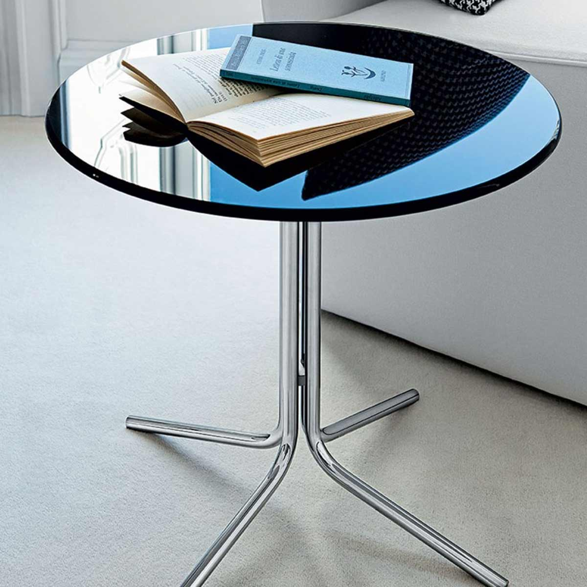 Genius Round Metal And Glass Table