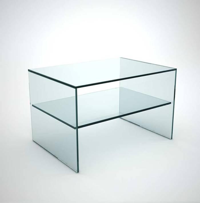 Glass Bedside table - Judd side angel