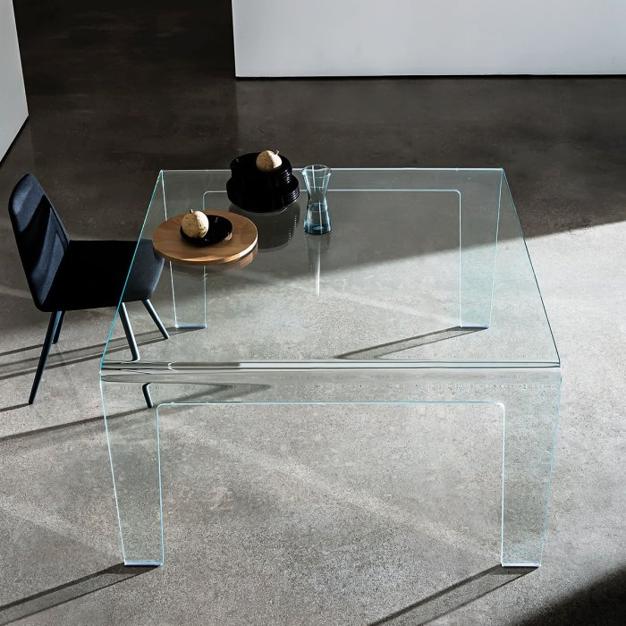 Curved Glass dining table - frog sovet italia
