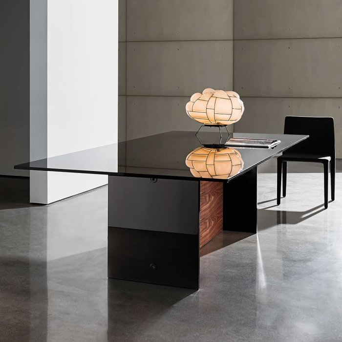 wood and glass dining table - regolo