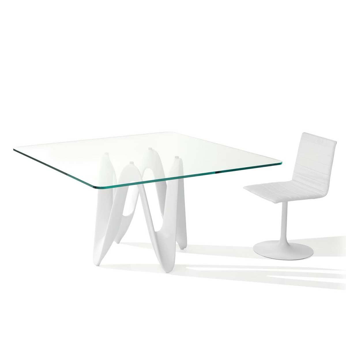 Lambda Rectangle Amp Square Glass Dining Table Klarity Glass Furniture
