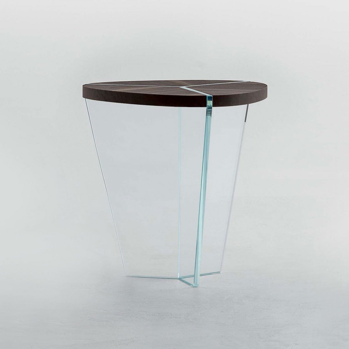 Aida Wood And Glass Side Table