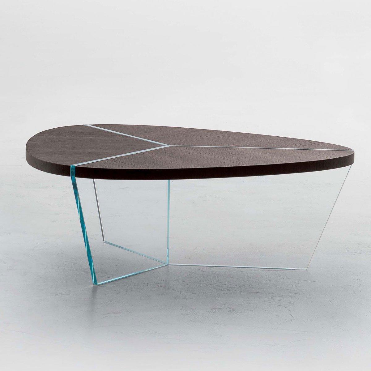 Tonin Casa Tree Coffee Table: Aida Wood And Glass Coffee Table