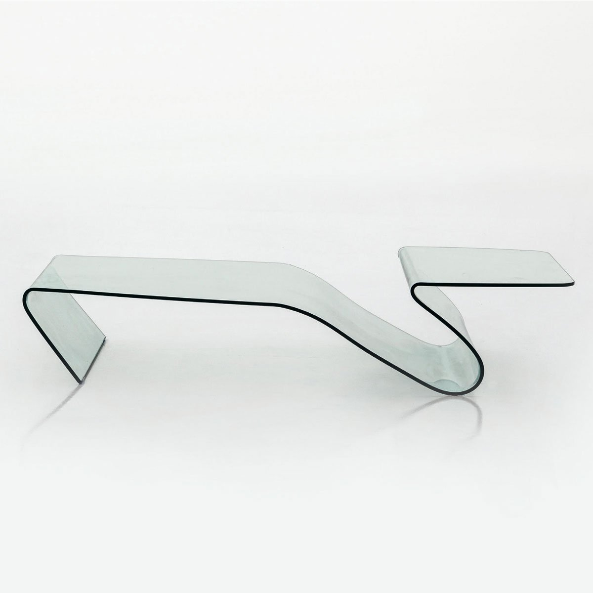 Taky Curved Glass Coffee Table: Alaric Curved Glass Coffee Table