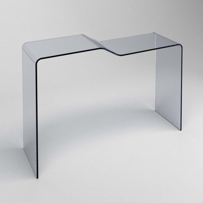 curved glass console table