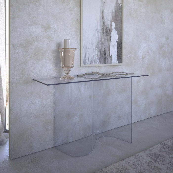 Curved Glass Console Table - ease