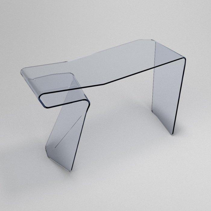 contemporary glass desk