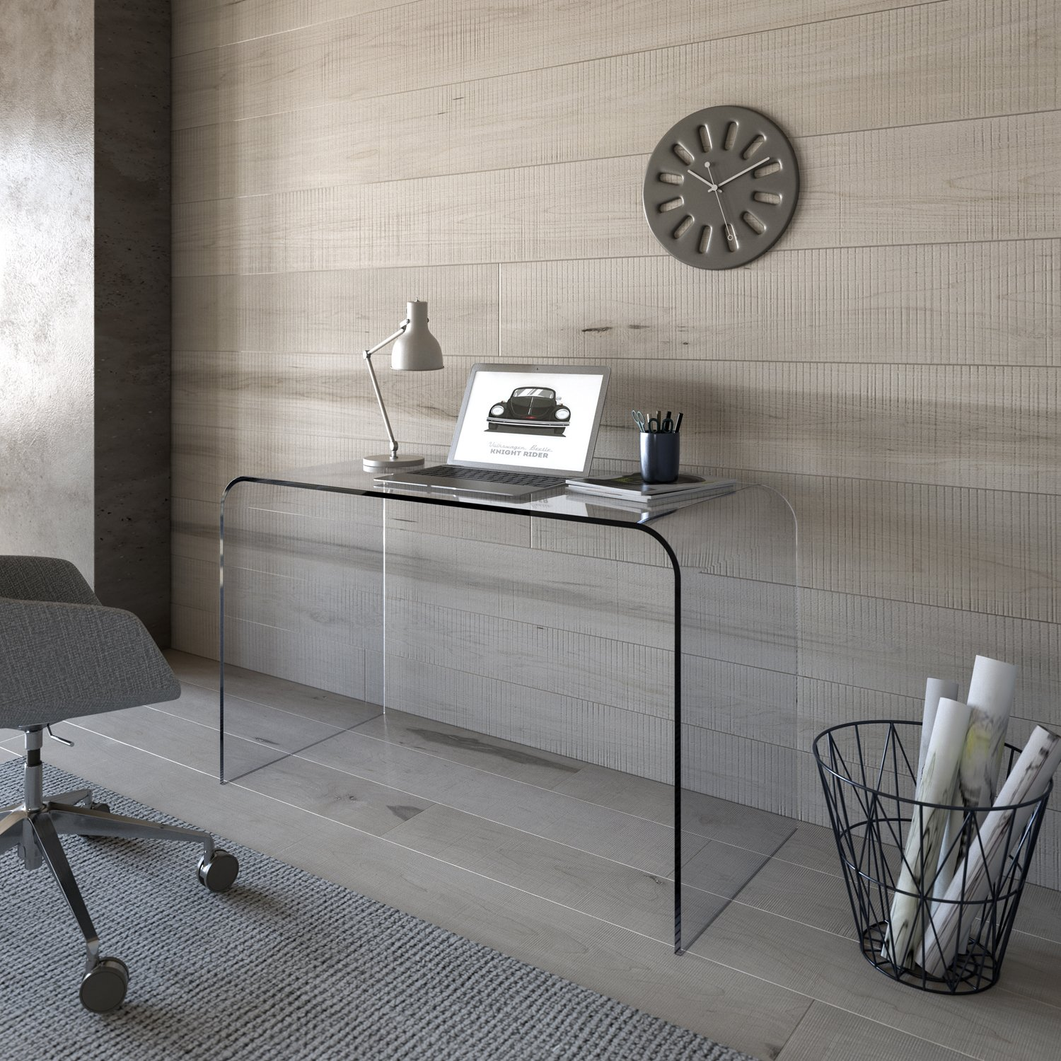 contemporary glass desk - classic