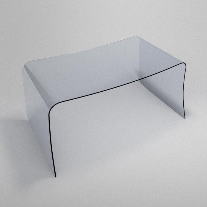 Curved Modern Glass Desk