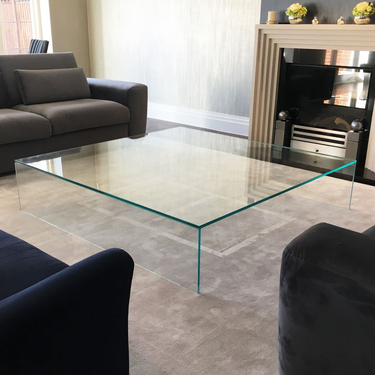 Large Glass Coffee Table Klarity Glass Furniture